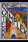 Vintage Dutch cycling poster - Snel Simplex Sterk